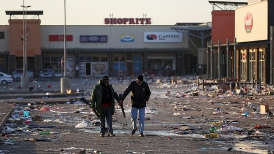The looting and violence started off as a protest against the 15-month imprisonment of the former president of South Africa Jacob Zuma – also of Zulu descent, for contempt of court. (REUTERS/Siphiwe Sibeko)