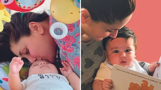 Kareena Kapoor's fan clubs have shared pictures of her with two babies, who they claim are Taimur Ali Khan and Jeh.