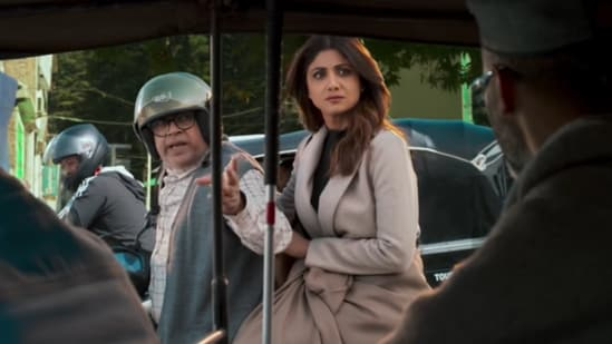 Shilpa Shetty and Paresh Rawal play a married couple in Hungama 2.