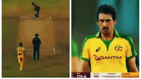 Video of Mitchell Starc defending 10 in the last over against Andre Russell