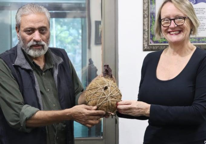 Dr. Judy Lowe, an Australian marine scientist and Rakesh Khatri.  (Facebook)