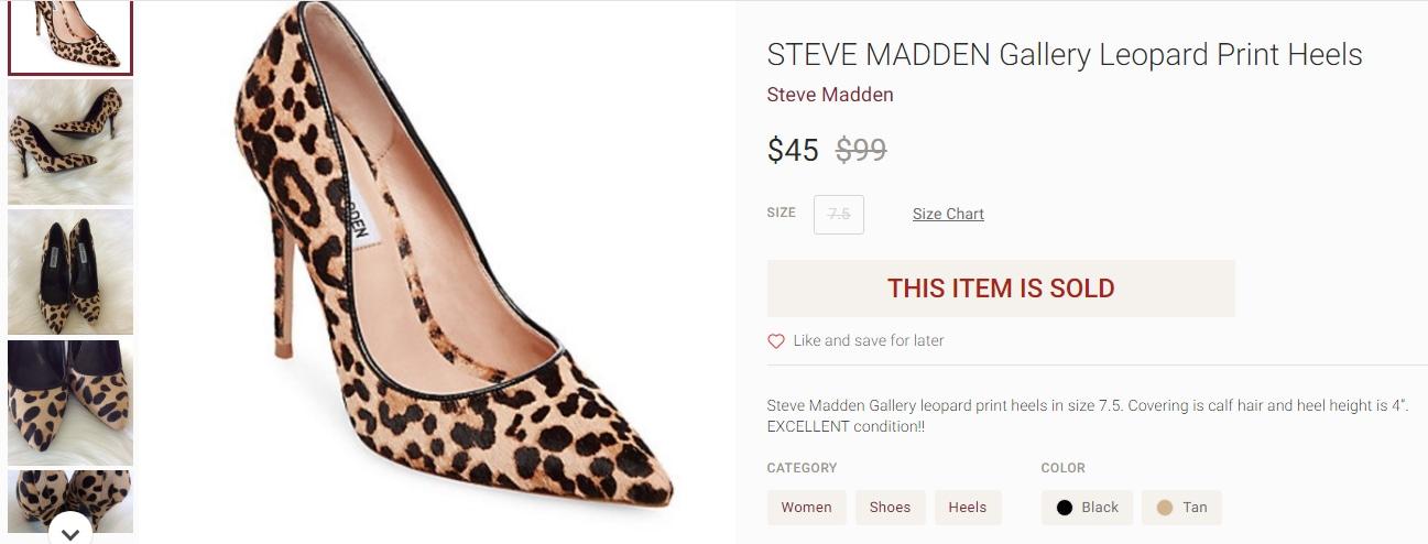 Kareena Kapoor Khan's leopard print heels from Steve Madden(poshmark.com)