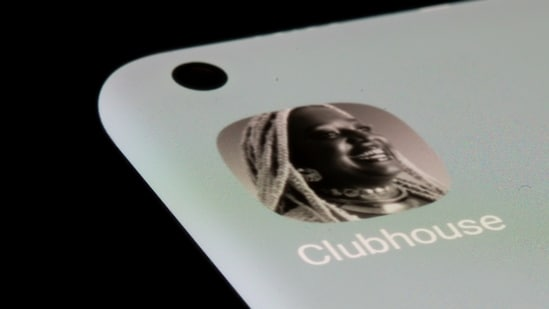 Clubhouse app is seen on a smartphone in this illustration taken on July 13, 2021. (REUTERS/Dado Ruvic/Illustration)