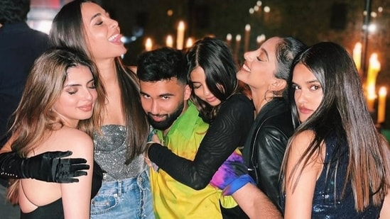 Suhana Khan and her friends shared multiple images from their night out in New York city, and the whole group was dressed to the nines.(Instagram)