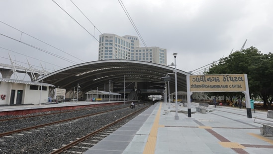 The Gandhinagar railway station is now set to house world-class amenities at par with modern airports