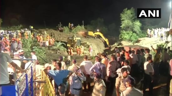 The dead and the injured were among the nearly 40 people, who gathered to watch rescuers trying to pull out the girl from the well. (ANI Photo)