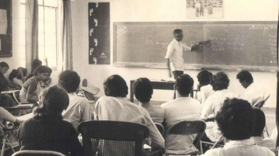 File photo of Stan Swamy during his tenure at Indian Social Insititute( Indian Social Institute )