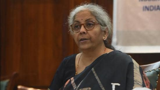 Finance minister Nirmala Sitharaman spoke at the USBIC roundtable about the <span class='webrupee'>₹</span>6.28 lakh crore economic stimulus and relief package which was tailored to meet the basic requirement of investors. (Twitter/@nsitharamanoffc)