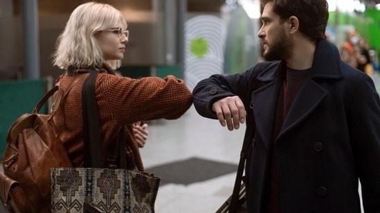 Lucy Boynton and Kit Harington in an episode of Modern Love season 2.