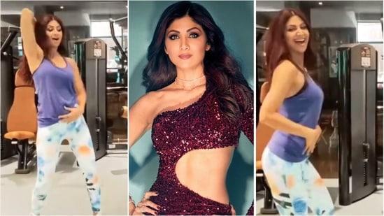 Shilpa Shetty grooving to Chura Ke Dil Mera at gym is perfect workout energy | Watch(Instagram/meetali_parmar/theshilpashetty)