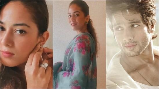 Mira Rajput wins over Shahid Kapoor in chanderi dupatta-salwar, cross-stitch kurta(Instagram/mira.kapoor/shahidkapoor)