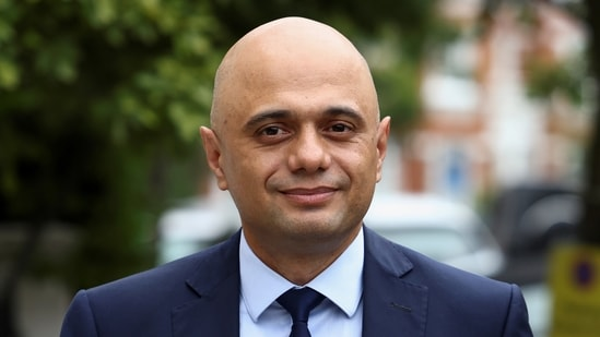 Sajid Javid was fully vaccinated against Covid-19 as he posted a picture of him getting a second dose of the AstraZeneca vaccine on May 16.(Reuters)