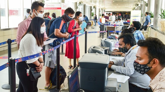 Around 27 counters run by commercial airlines GoAir and Indigo will be allowed to open to cater to passengers at Terminal 2(PTI Photo)