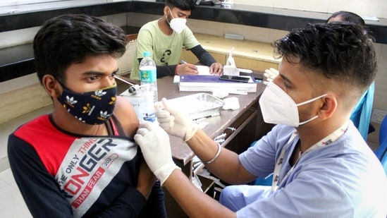 Gurugram: A health worker administers a dose of Sputnik V coronavirus vaccine to a beneficiary at a vaccination centre, in Gurugram, Saturday, July 17, 2021. (PTI)
