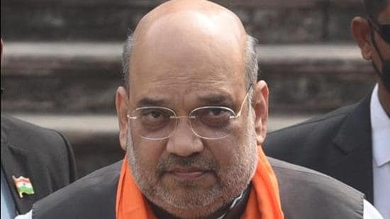 Union home minister Amit ShahShah said all gaps in India's border fencing will be filled by 2022 to completely end the infiltration and other anti-national activities. (Samir Jana/HT Photo)