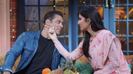 Salman Khan and Katrina Kaif on The Kapil Sharma Show.