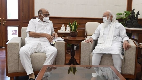 NCP Chief Sharad Pawar with PM Narendra Modi in Delhi. (Photo: Twitter/ PMO)