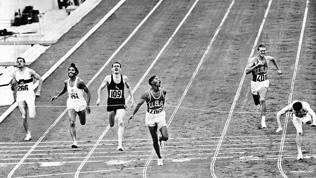 """Milkha Singh (second from left) finishes fourth in the 400m race at the 1960 Rome Olympics. """"The problem here,"""" he told HT in 2004, """"is that people remember Olympians every four years."""" (Getty Images)"""