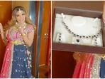 Rakhi Sawant shared a video of the necklace she gifted to Disha.