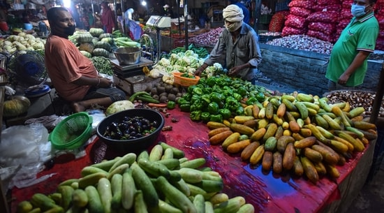 Prices of fruits and vegetables usually increase as monsoon covers the country, because of transportation and storage hurdles.(Sanchit Khanna/ Hindustan Times)