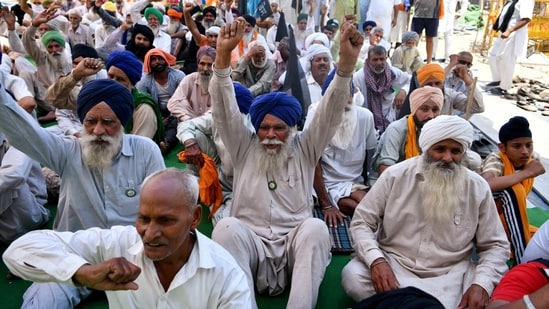 The farmers leaders have said that 200 people will march to Parliament from Singhu border every day.(ANI File Photo)