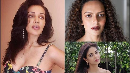 Actors Flora Saini, Bidita Bag and Meera Chopra.