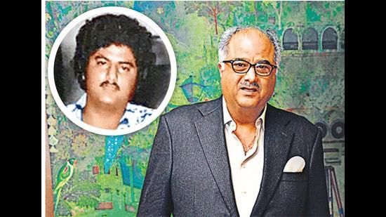 Boney Kapoor at 22 (top) and at 65 (above)