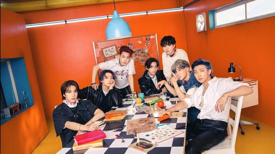 BTS is on a new high as their single Butter has remained atop the Billboard Hot 100 chart for seventh consecutive week. (BIGHIT MUSIC)