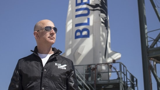 Jeff Bezos, founder of Blue Origin, at New Shepard's West Texas launch facility.(AFP File Photo)