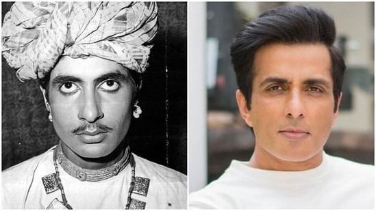 Amitabh Bachchan has shared a picture and fans think he looks like Sonu Sood.