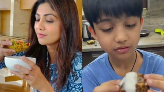 Shilpa Shetty's son Viaan takes over Sunday binge.