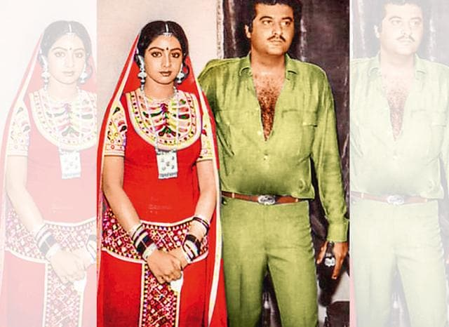 Boney's first photograph with his future wife, Sridevi