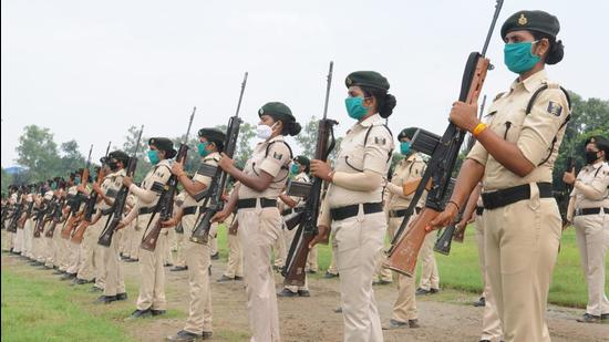 Independence Day parade participants in Bihar will wear mask and follow Covid-19 protocols during rehearsal periods. (HT Photo/File)