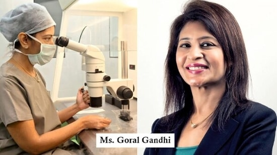 Goral Gandhi-The leading embryologist of India with 25 years of experience.