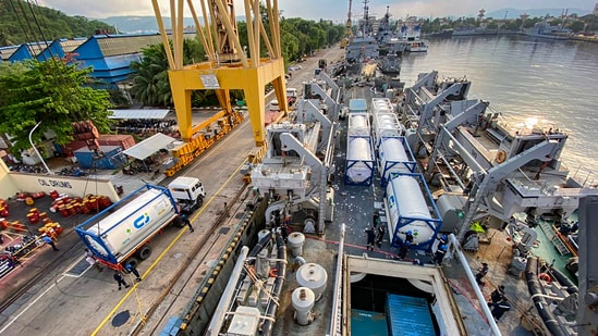 Indonesia had sent around 3,400 oxygen cylinders and concentrators to India in May. (PTI Photo)(PTI)