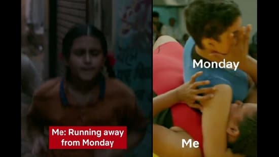 The screengrabs were taken from the relatable post shared by Netflix India on Instagram.(Instagram/@netflix_in)