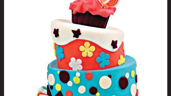 Fondant three storey cake. Sugar sheet cutouts are also a great alternative for fondant cakes. (Photo: Shutterstock)