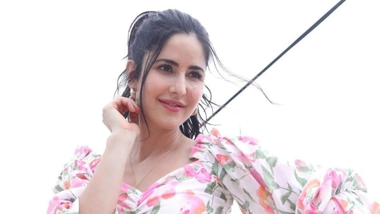 Katrina Kaif shared fresh pictures in a floral crop top and shorts.