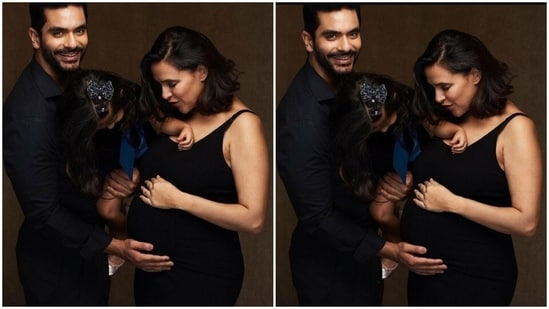 Neha Dhupia, Angad Bedi announce second pregnancy, share pic with Mehr and  baby bump | Bollywood - Hindustan Times