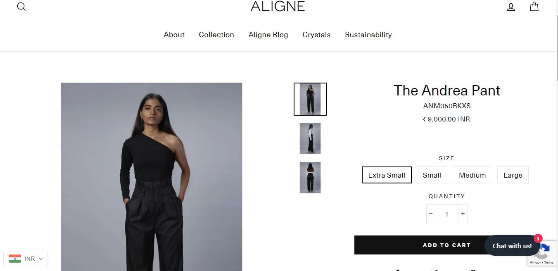 Kriti Sanon's black pants from Aligne(alignestudio.com)
