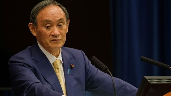 FILE PHOTO: Japan's Prime Minister Yoshihide Suga speaks before the start of the Olympic Games, in Tokyo, Japan(REUTERS)