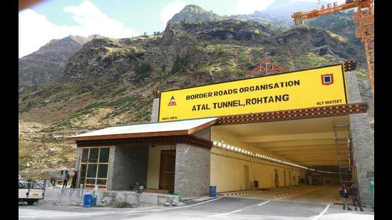 The landfill site near the North Portal of Atal Tunnel at Rohtang Pass will be developed into a tourism village with cafes and a hotel. (Aqil Khan/HT)