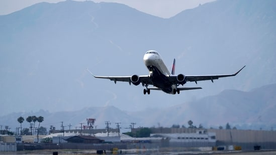 A Delta Air Lines jet takes off from Hollywood Burbank Airport Thursday, July 8, 2021, in Burbank. (AP/ File photo)