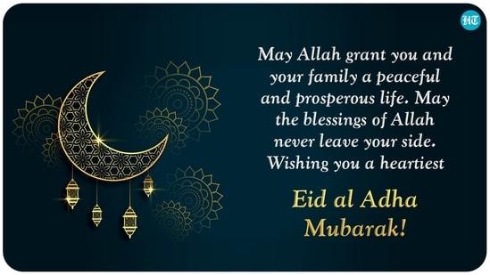 Semoga Allah memberi Anda dan keluarga Anda kehidupan yang damai dan sejahtera.  Semoga berkah Allah tidak pernah meninggalkan sisi Anda.  Mengucapkan selamat Idul Adha Mubarak dengan sepenuh hati!