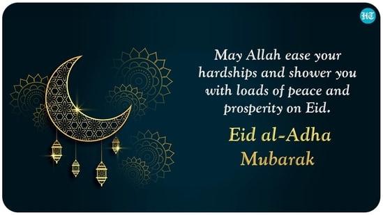 Semoga Allah meringankan kesulitan Anda dan menghujani Anda dengan banyak kedamaian dan kemakmuran pada Idul Fitri.  Idul Adha Mubarak.