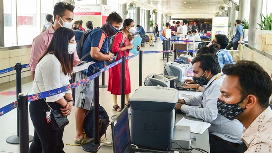 According to the rules, the RT-PCR test must be conducted within 72 hours of the departure of the flight.(PTI Photo)