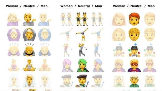 A three-gender formula was first introduced in Unicode Consortium's 2019 edition of Emoji 12.0 (Photo: Facebook)