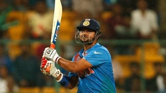 India's Suresh Raina plays a shot.(REUTERS)