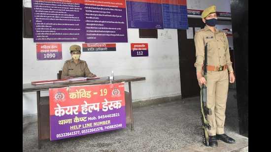 Women's helpdesk at a police station Prayagraj (HT File Photo)