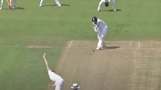KL Rahul in action in the practice match against County Select XI at Chester-le-Street, Durham.(Youtube/Durham Cricket)